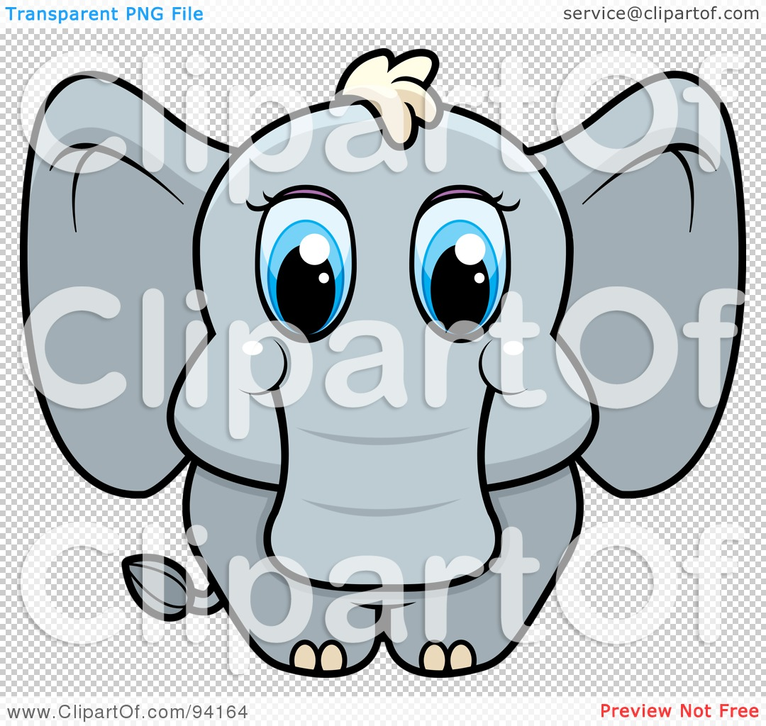 Clipart elephant with big head banner royalty free stock Royalty-Free (RF) Clipart Illustration of a Baby Elephant With Big ... banner royalty free stock