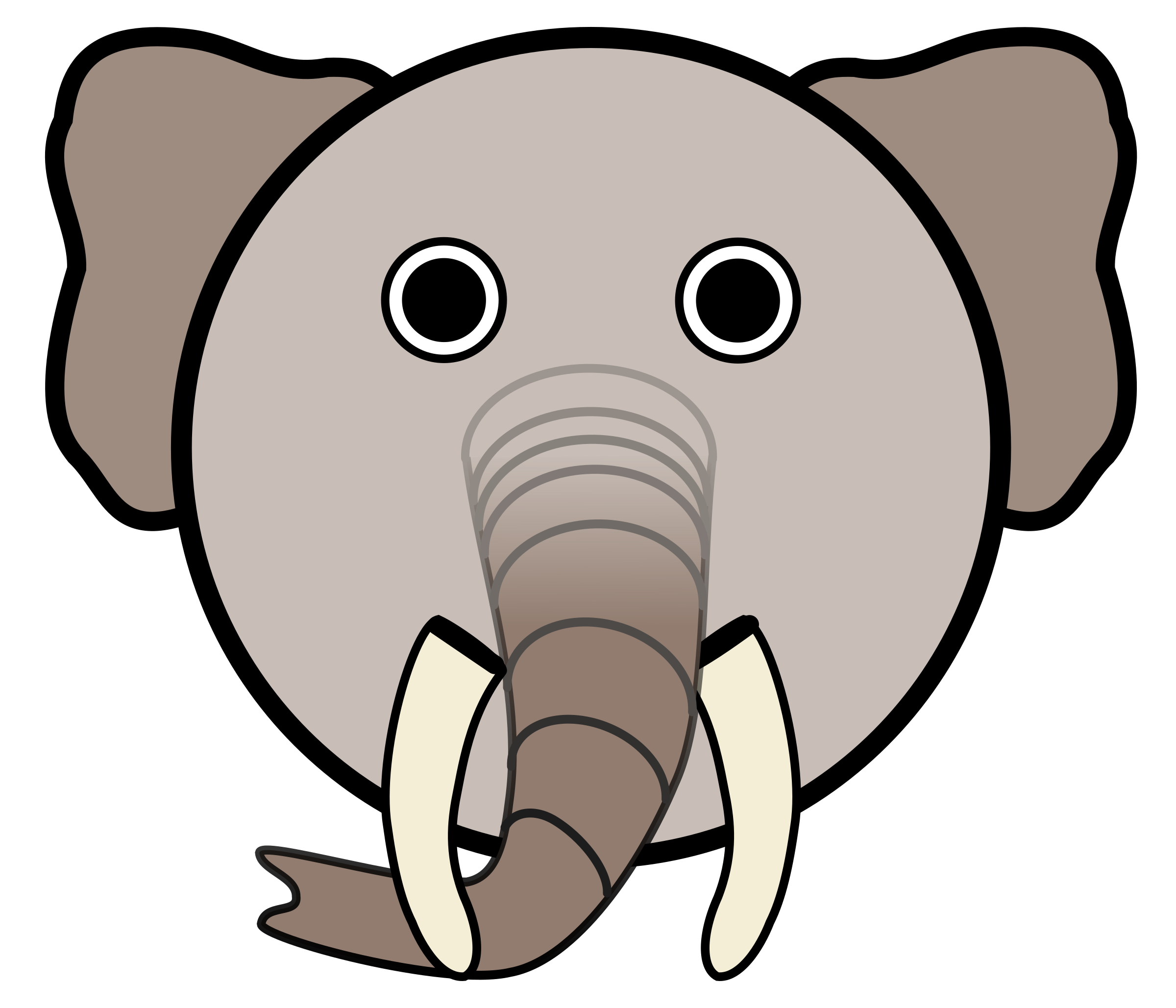 Clipart elephant with big head picture library download Clipart - Elephant picture library download