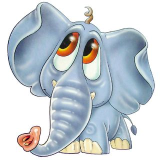 Clipart elephant with big head jpg black and white Cute Cartoon Elephants | Cute Cartoon Elephant Clip Art | Cute,Fun ... jpg black and white