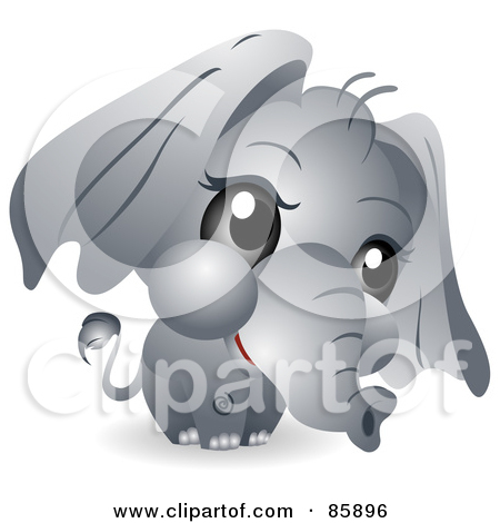 Clipart elephant with big head clipart transparent Royalty-Free (RF) Baby Elephant Clipart, Illustrations, Vector ... clipart transparent
