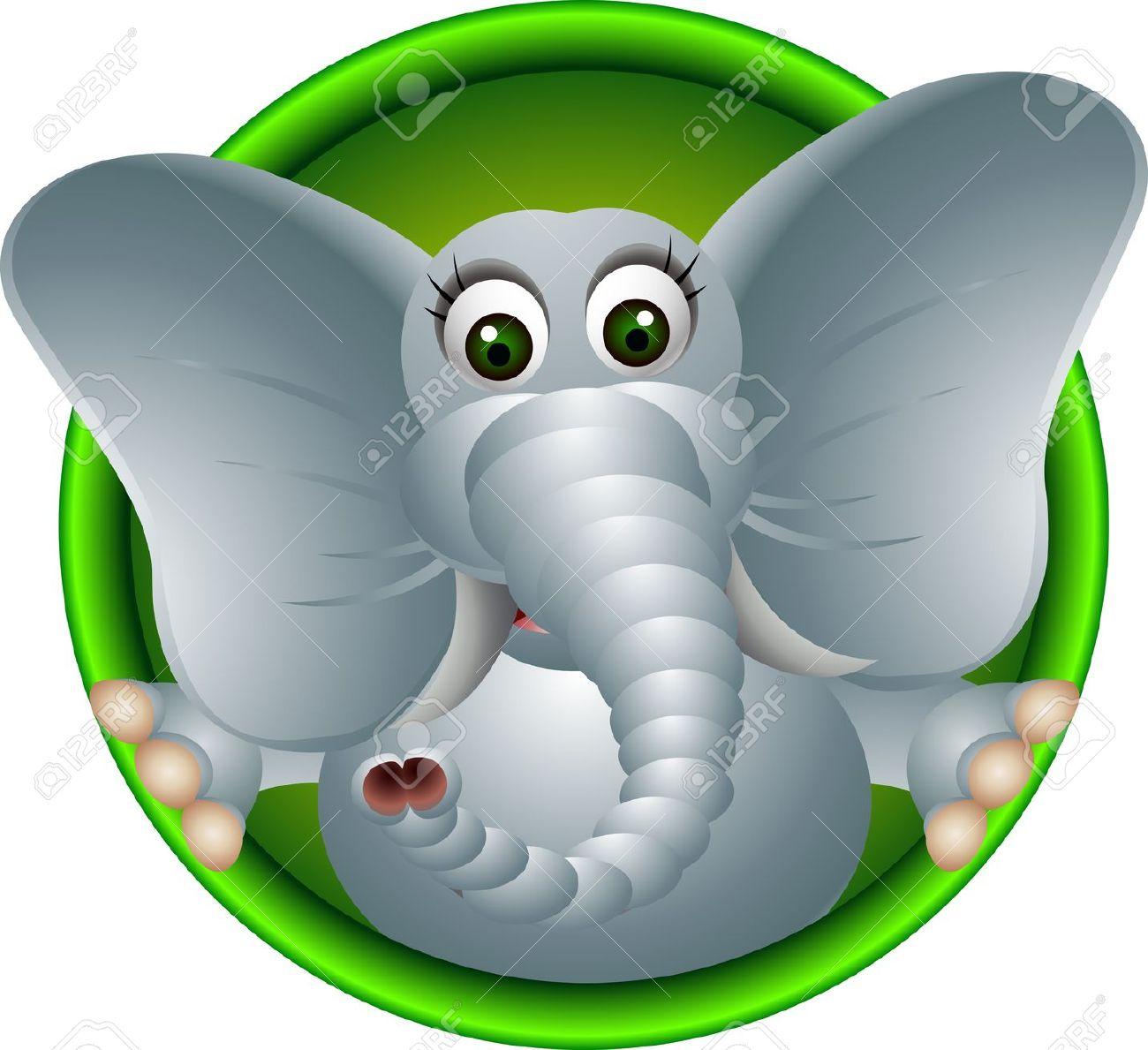 Clipart elephant with big head clip art free Elephant big ears clipart - ClipartFest clip art free
