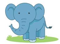 Clipart elephant with big head clip art transparent download Free Elephant Clipart - Clip Art Pictures - Graphics - Illustrations clip art transparent download