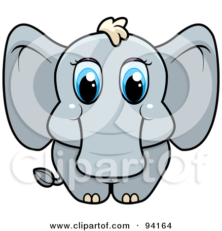 Clipart elephant with big head clip Baby Animal Posters & Baby Animal Art Prints #12 clip