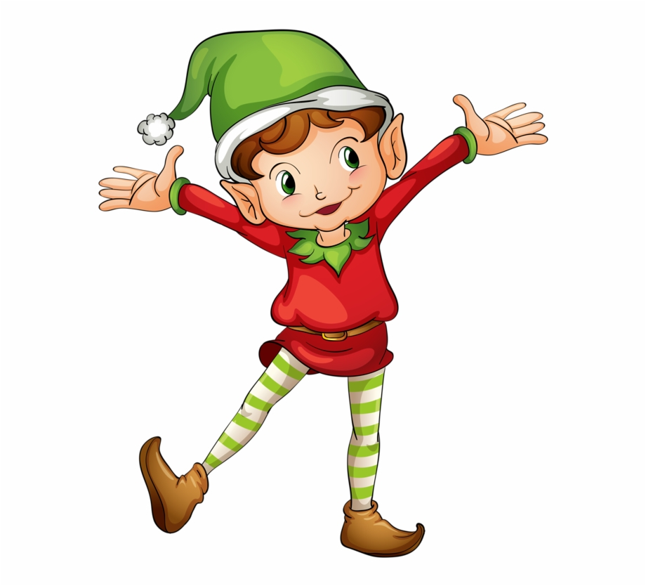 Clipart elves picture black and white library Elf Clipart Png - Christmas Elves Clipart, Transparent Png Download ... picture black and white library