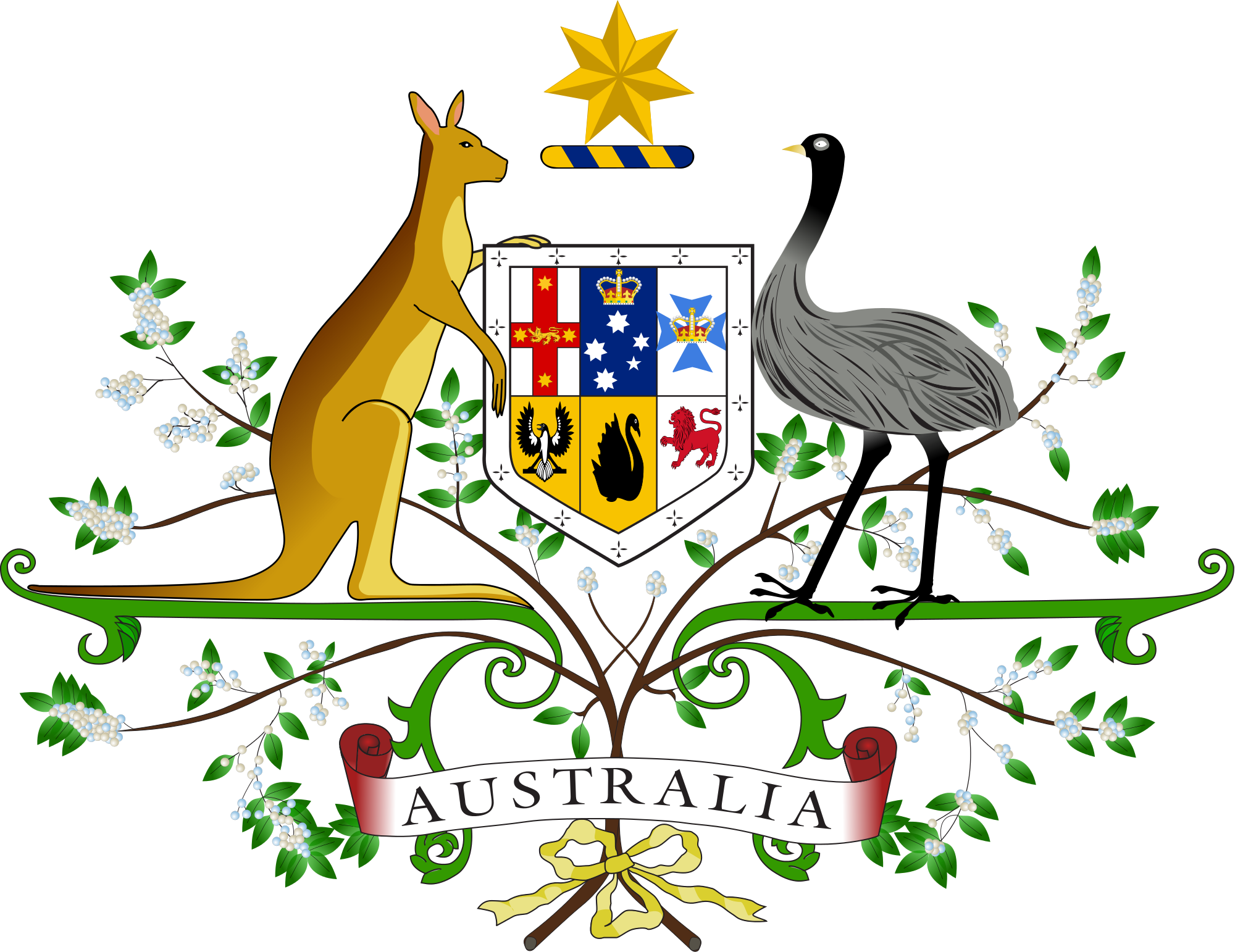 Clipart embassy australia vector transparent Download Gerb Australia Star Usa Coat National Arms Clipart PNG Free ... vector transparent