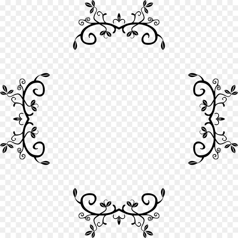 Clipart embelishment graphic transparent download Black And White Flower clipart - White, Black, Text, transparent ... graphic transparent download