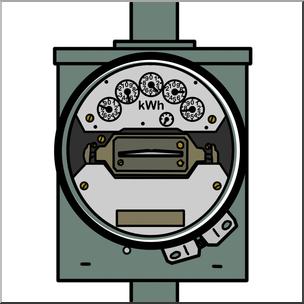 Clipart e-meter picture transparent Clip Art: Electricity: Meter Color I abcteach.com   abcteach picture transparent