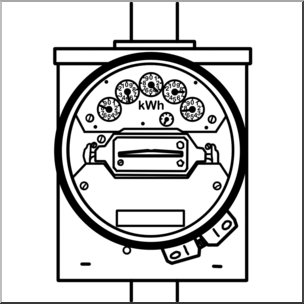 Clipart e-meter graphic royalty free library Clip Art: Electricity: Meter B&W I abcteach.com | abcteach graphic royalty free library