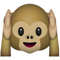Clipart emoji with tongue out and hands by ears clipart freeuse library Monkey Covering Ears. | cards | Emoji, Emoji symbols, Cool emoji clipart freeuse library