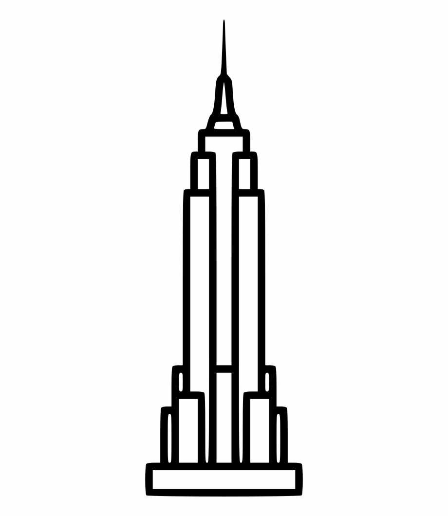 Clipart empire banner black and white stock Empire State Building Ol Svg Png Icon Free Download - Empire State ... banner black and white stock