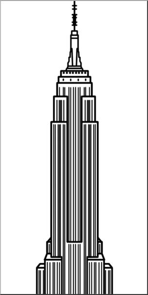 Clipart empire image free stock Clip Art: Empire State Building B&W I abcteach.com   abcteach image free stock