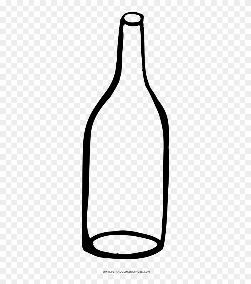 Clipart empty bottle picture library stock Empty Bottle Coloring Page - Glass Bottle Clipart (#3274535 ... picture library stock