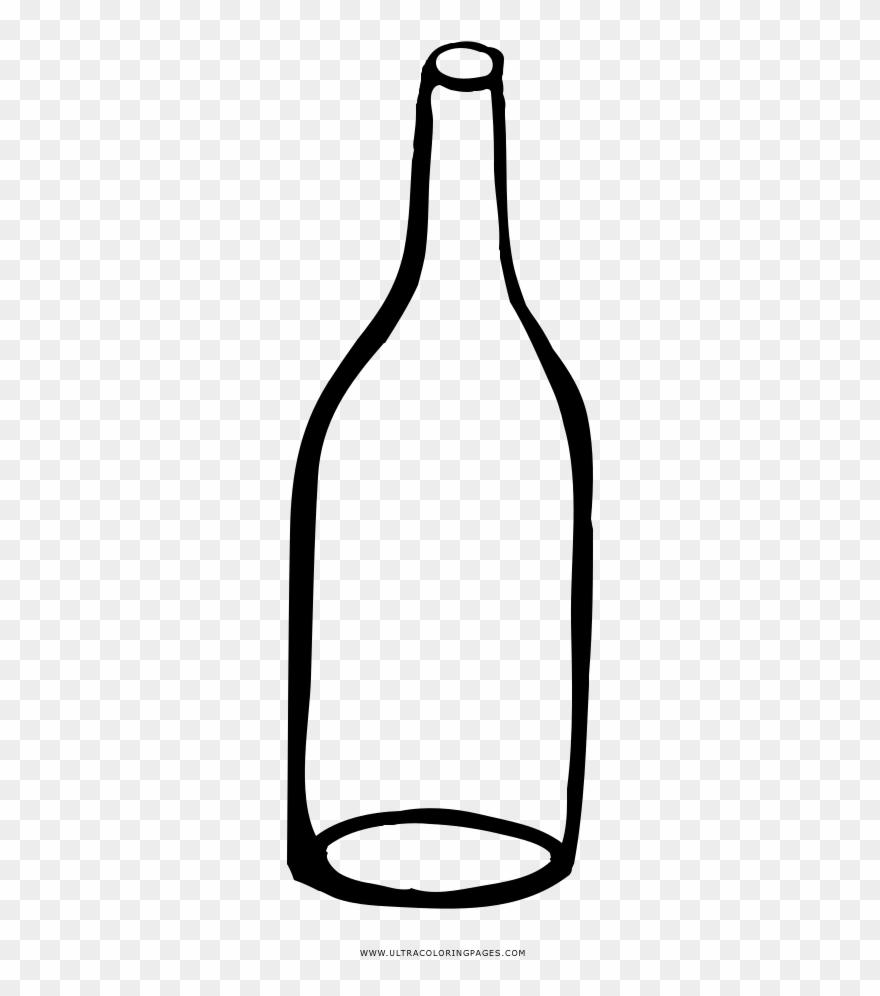 Transparent bottle clipart clip transparent Empty Bottle Coloring Page - Glass Bottle Clipart (#3274535 ... clip transparent
