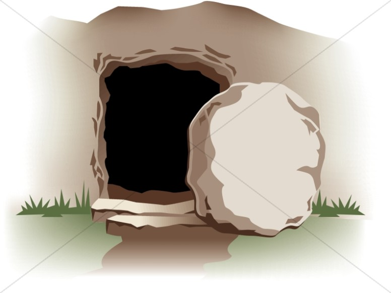 Tomb clipart clip art Empty Tomb with Stone | Easter Clipart clip art