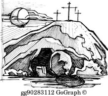 Tomb clipart clipart royalty free Empty Tomb Clip Art - Royalty Free - GoGraph clipart royalty free