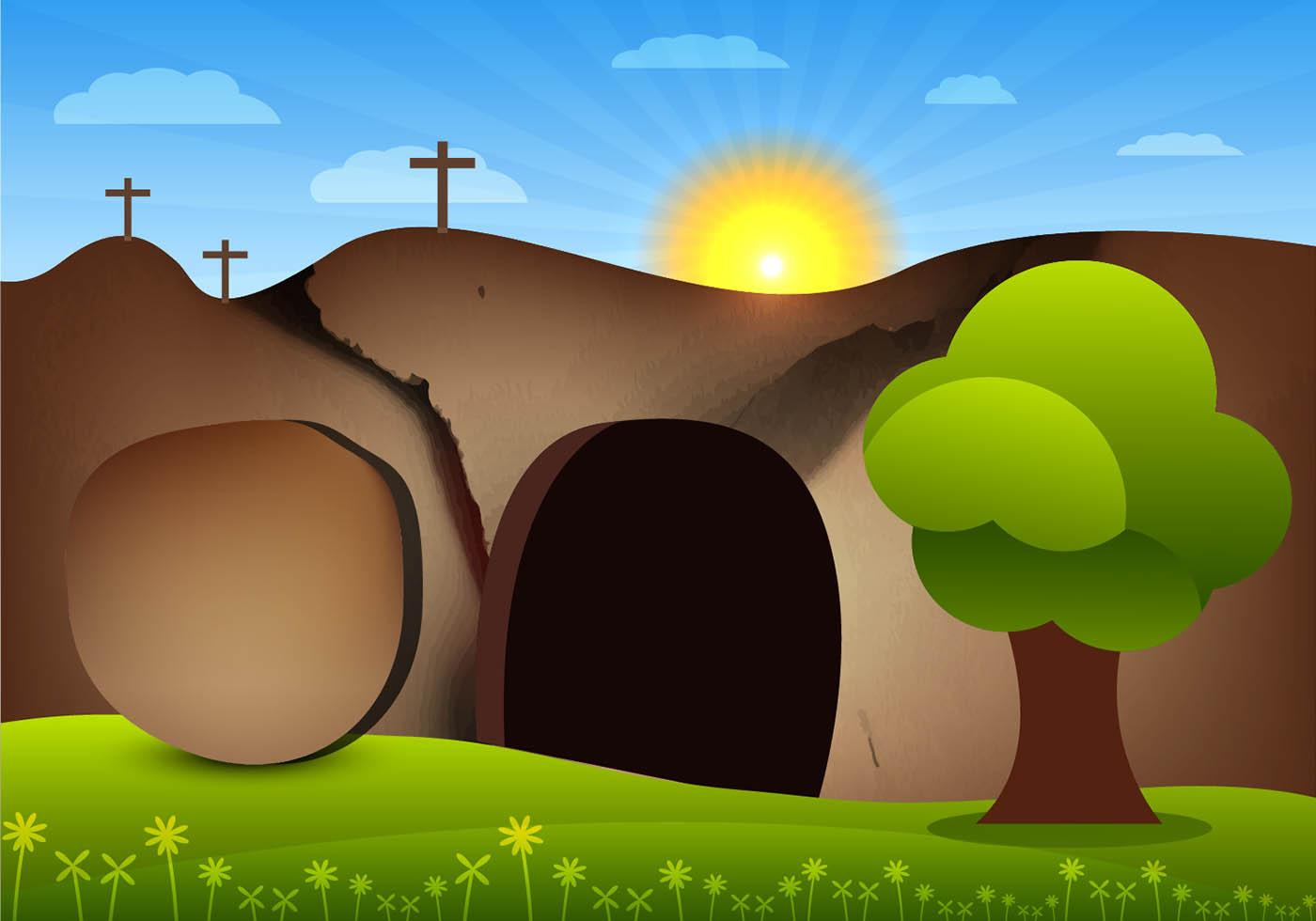 Clipart empty tomb picture library stock HD Black And White Easter Tomb Vector Pictures » Free Vector Art ... picture library stock