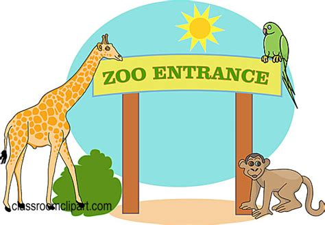 Clipart entrance image freeuse download Zoo Gate Cartoon - Tristateportapotty image freeuse download