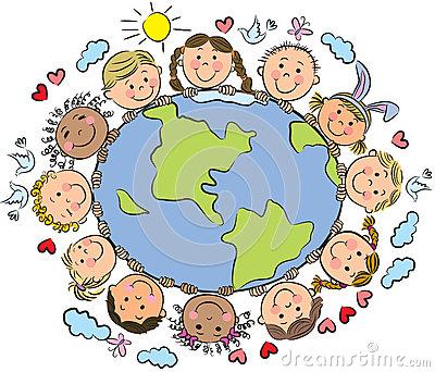 Clipart erde kostenlos freeuse Kinder Der Erde Lizenzfreies Stockfoto - Bild: 28883705 freeuse