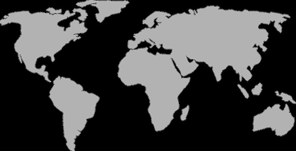 Clipart erde kostenlos vector freeuse download Kostenlose Vektorgrafik: Weltkarte, Erde, Global, Kontinente ... vector freeuse download