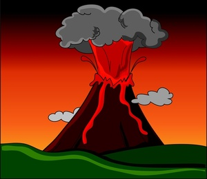 Clipart erupt vector royalty free download Volcano Clipart Image - Clip Art Library vector royalty free download