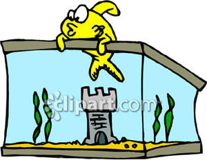 Clipart escapeing banner library download Pet Fish Escaping From the Tank - Royalty Free Clipart Picture banner library download