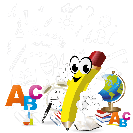 Clipart escolar clip art royalty free stock Vector Clipart: Caricatura de un lápiz escolar - Vector clip art royalty free stock
