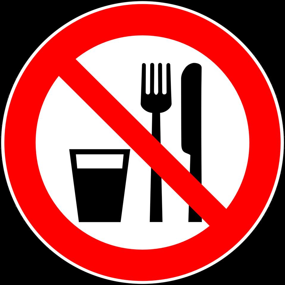 Essen und trinken clipart image transparent download Public Domain Clip Art Image | Deutsch: Essen und Trinken verboten ... image transparent download