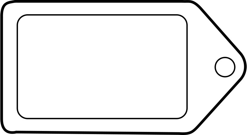 Label clipart images picture transparent library Free Clipart: Etiquette tag icon label | lmproulx picture transparent library