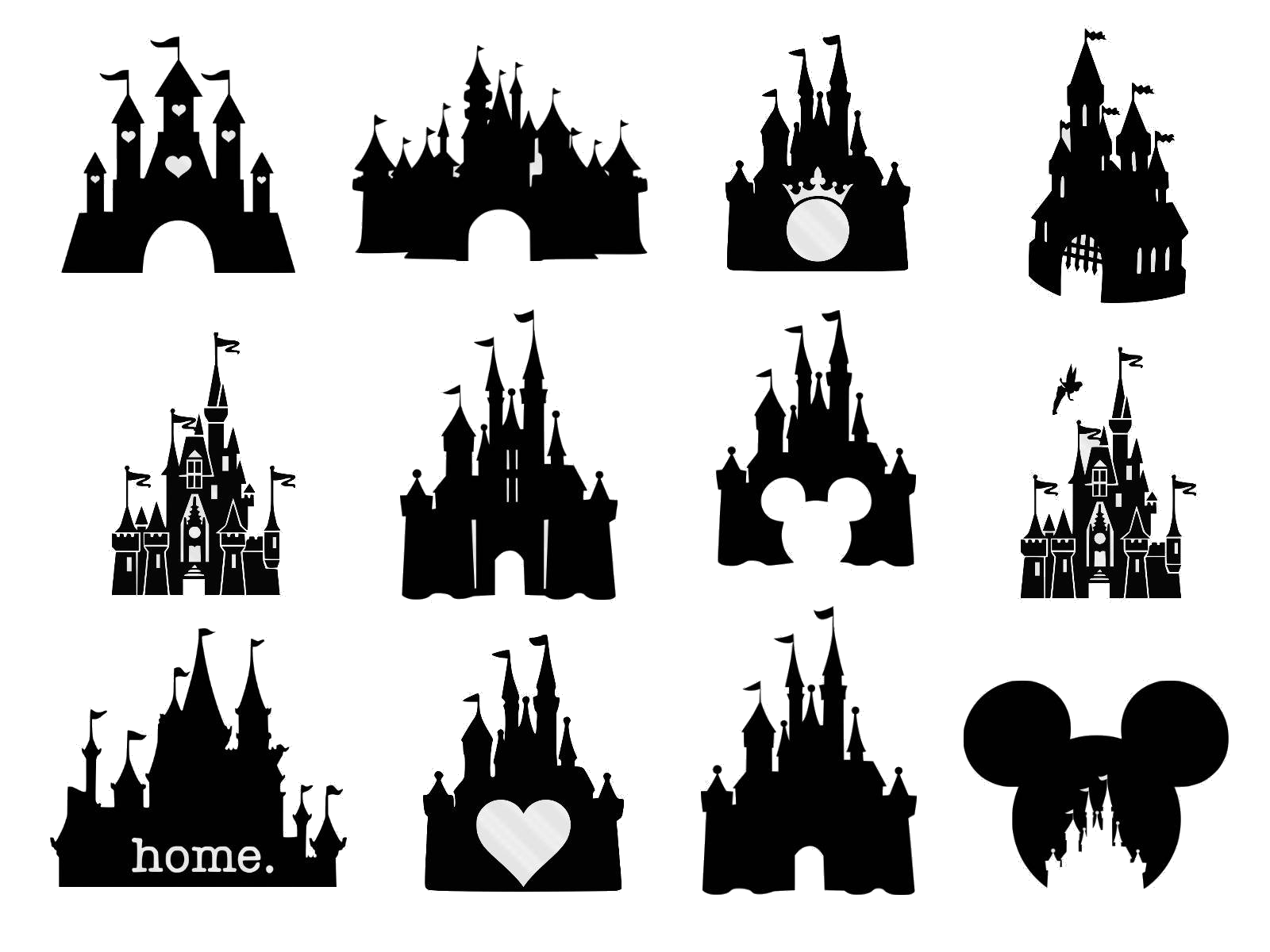 Clipart etsy svg black and white library Disney Castle Awesome Bundle Clipart Etsy This Week Png - AZPng svg black and white library