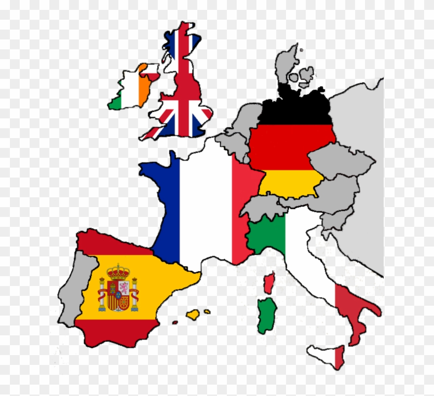 Country flags clipart download clip freeuse download Spain Clipart Europe - Europe Map With Country Flags - Png Download ... clip freeuse download