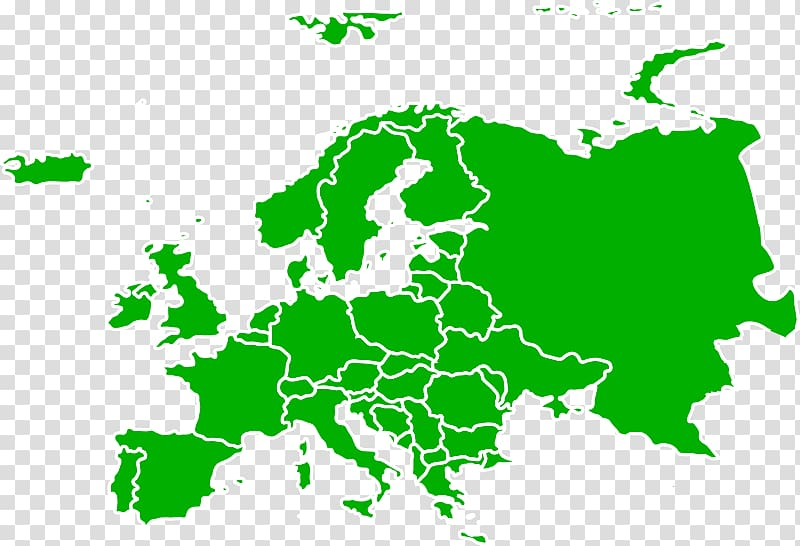 Clipart europe banner transparent Flag of Europe Blank map , continental borders tab transparent ... banner transparent