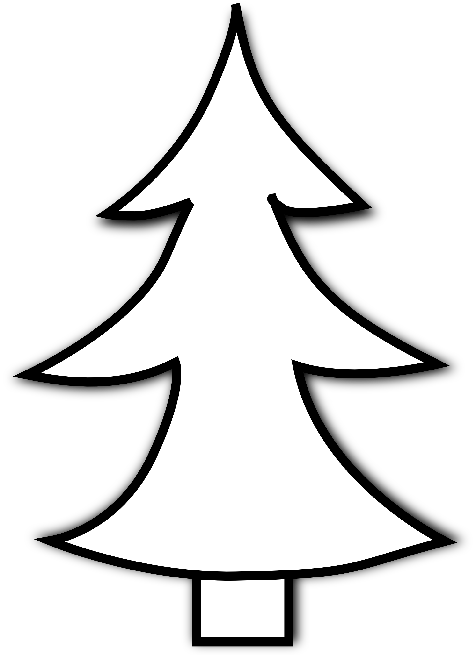 Cute christmas tree clipart graphic free stock Evergreen Trees Silhouette at GetDrawings.com | Free for personal ... graphic free stock