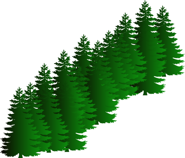 Clipart evergreen tree silhouette graphic transparent stock Evergreen Cluster Clip Art at Clker.com - vector clip art online ... graphic transparent stock