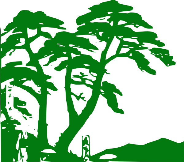 Jungle tree clipart clip art transparent Green Trees Silhouette Clip Art at Clker.com - vector clip art ... clip art transparent