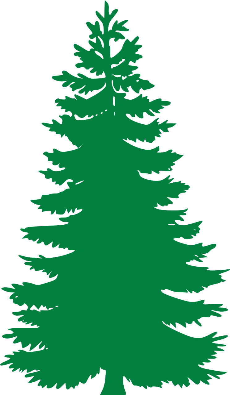Evergreen tree with snow clipart jpg library download Free Image on Pixabay - Fir, Evergreen, Trees, Silhouette ... jpg library download