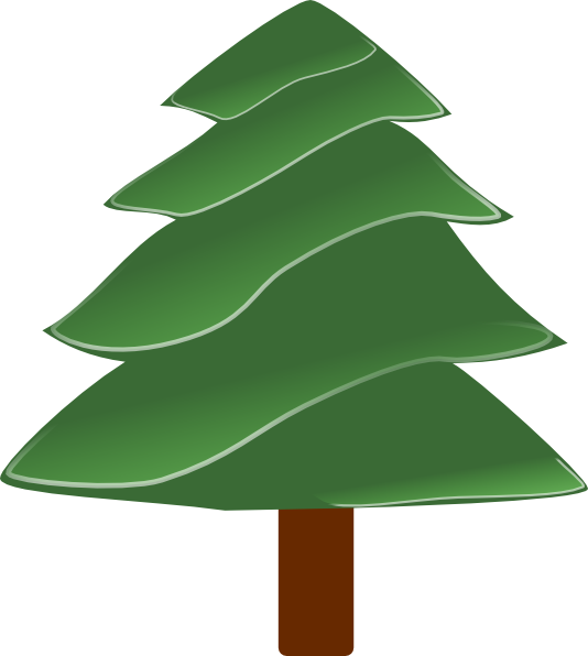 Clipart evergreen tree silhouette clip free Simple Evergreen, With Highlights Clip Art at Clker.com - vector ... clip free