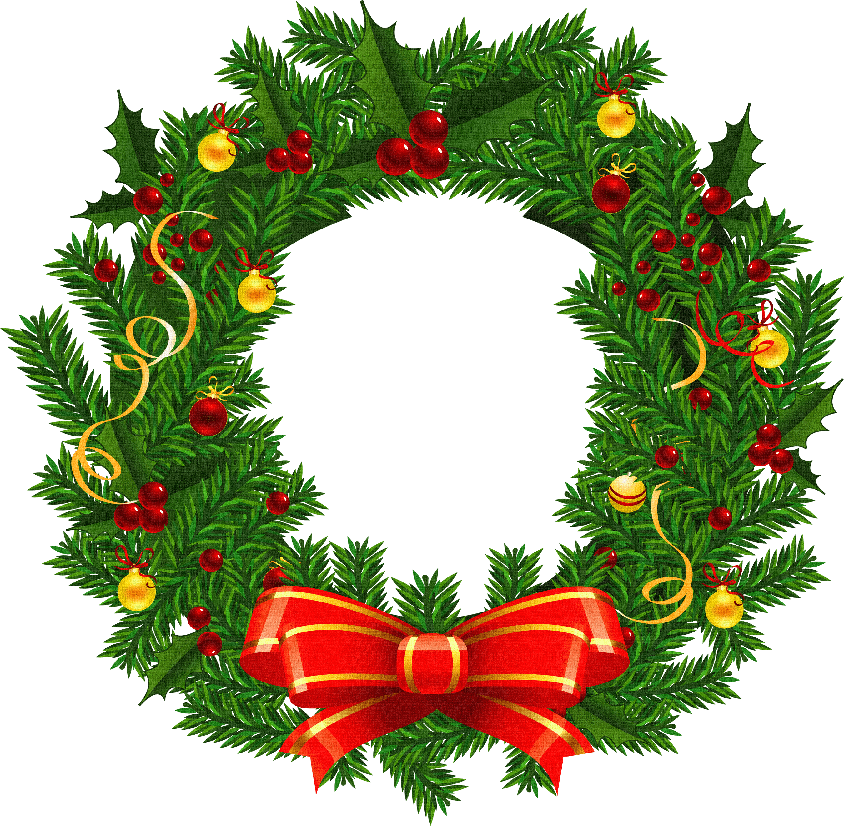 Clipart evergreenwreath graphic free library Evergreen Wreath Cliparts - Cliparts Zone graphic free library