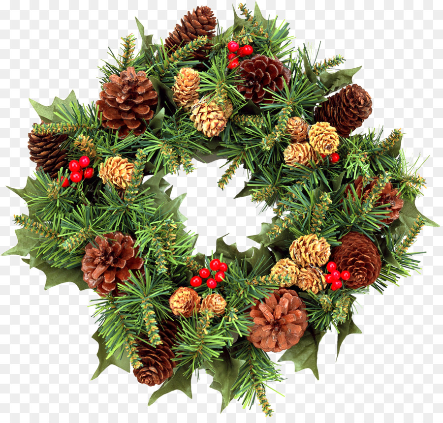 Clipart evergreenwreath clip freeuse Christmas And New Year Background - wreath png download - 1394*1317 ... clip freeuse