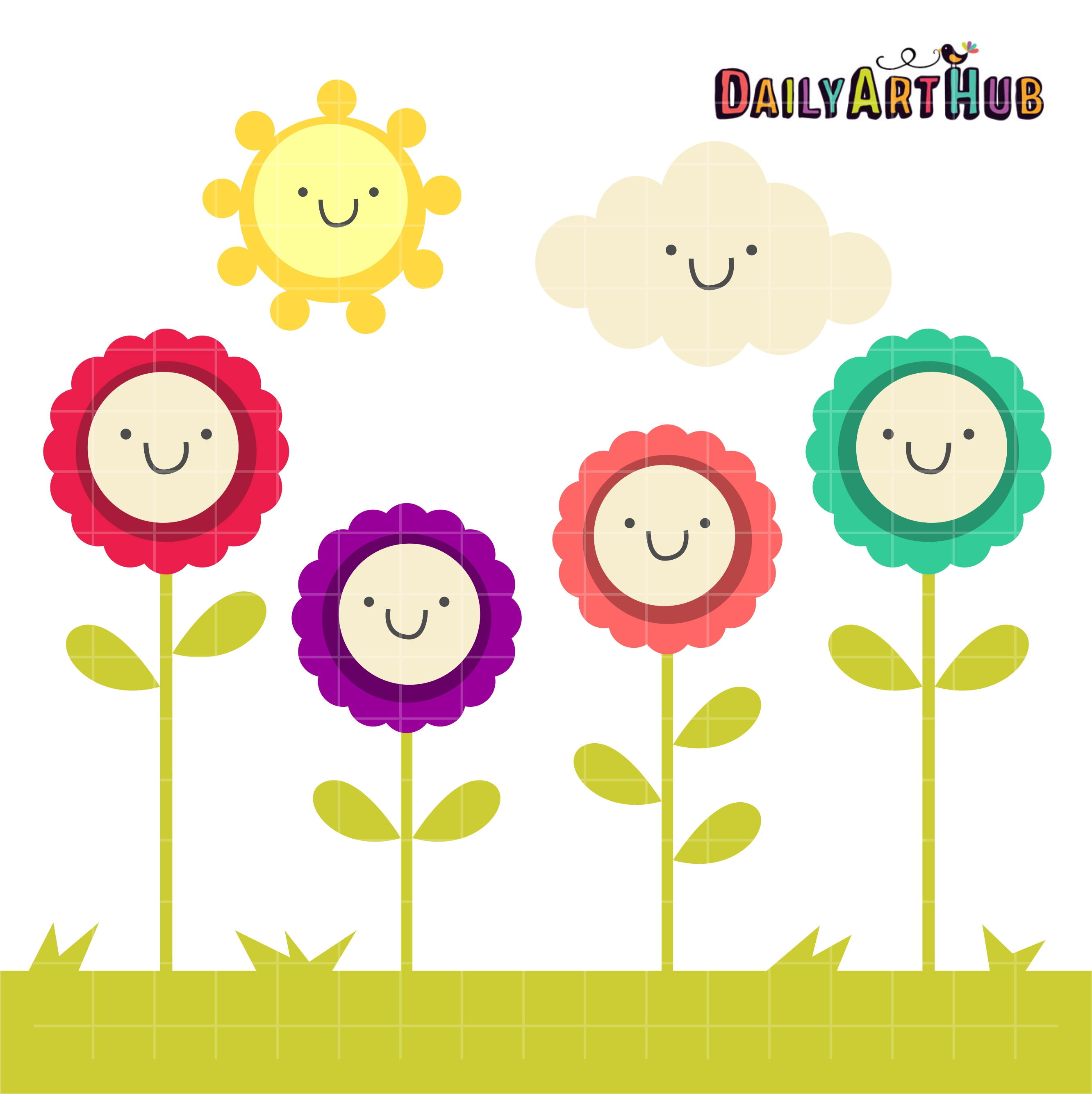 Clipart everyday graphic stock Happy Nature Clip Art Set graphic stock