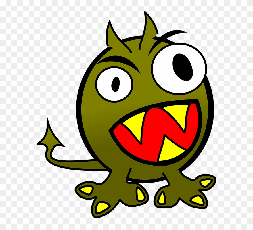 Clipart evil banner freeuse library Demon Clipart Evil Monster - Cartoon Images Of Monsters - Png ... banner freeuse library