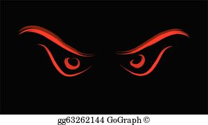 Clipart evil jpg freeuse Evil Eyes Clip Art - Royalty Free - GoGraph jpg freeuse