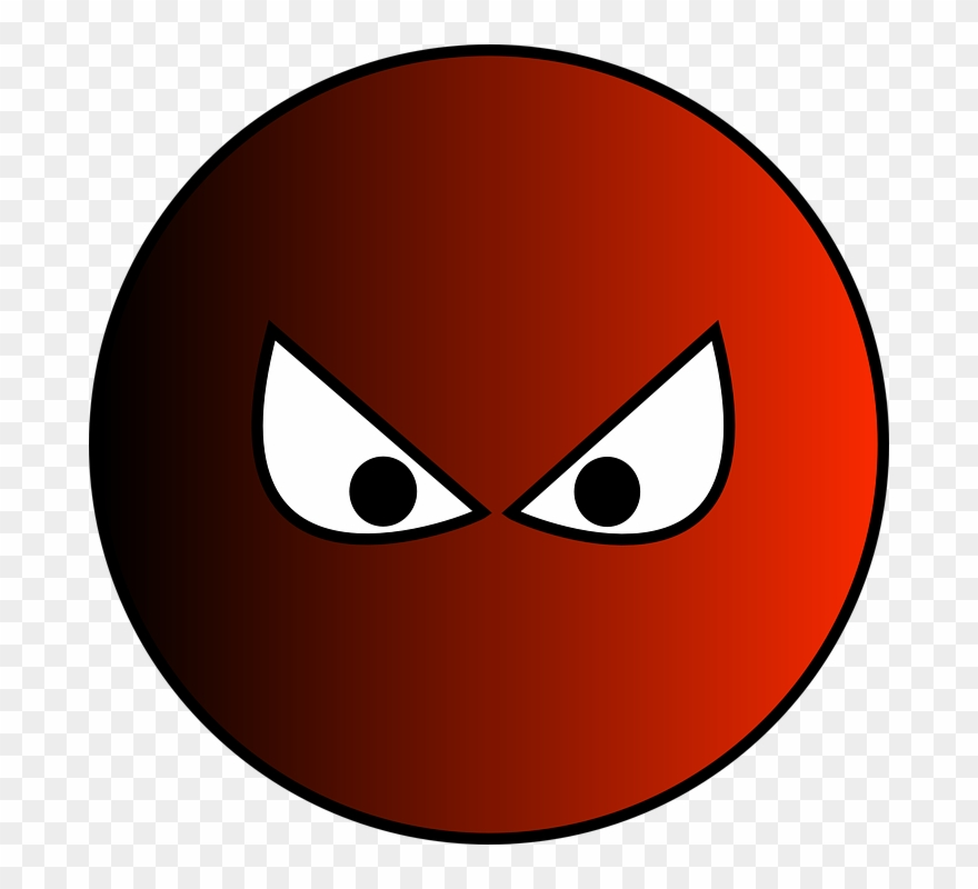 Clipart evil clipart transparent stock Evil Clipart Evil Face Clipart - Red Ball With Eyes - Png Download ... clipart transparent stock