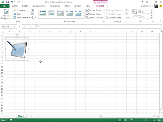 Clipart excel 2016 svg library library How to Edit and Format Inserted Pictures in Excel 2013 - dummies svg library library