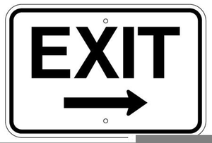 Sign clipart exit image royalty free download Free Clipart Exit Sign | Free Images at Clker.com - vector clip art ... image royalty free download
