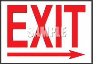 Clipart exit left arrow graphic free Exit sign clip art - ClipartFest graphic free