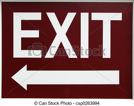 Clipart exit left arrow jpg freeuse download Stock Photo of Exit Sign With Left Arrow - exit sign with an arrow ... jpg freeuse download