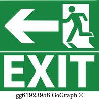 Clipart exit clip art transparent stock Exit Clip Art - Royalty Free - GoGraph clip art transparent stock