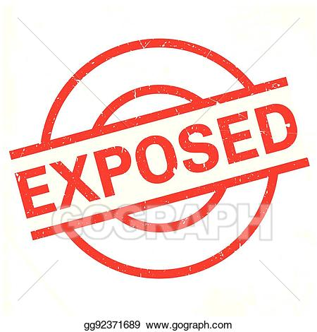 Clipart exposed pics image freeuse Vector Clipart - Exposed rubber stamp. Vector Illustration ... image freeuse