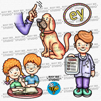 Clipart ey vector royalty free stock EY Words ClipArt | Long Vowel Teams -A- Clip Art Set vector royalty free stock