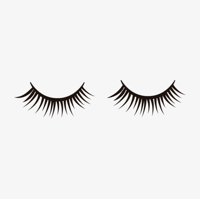 Eyelash vector clipart graphic black and white stock False Eyelashes Material PNG, Clipart, Eyelash, Eyelashes Vector ... graphic black and white stock